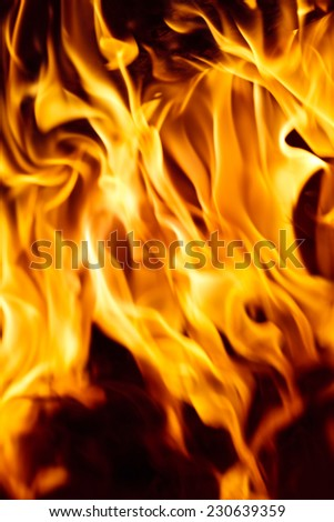 Abstract background with bright flames on black.