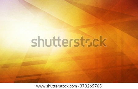 abstract background with bright light leak or sunspot flare, abstract stripes and line decorations in random pattern, geometric background design in bright orange and gold color - stock photo