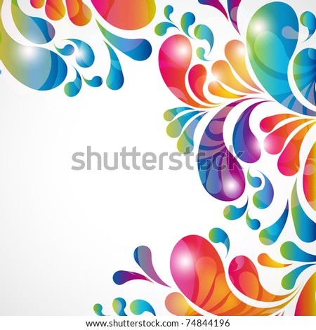 Abstract background with bright teardrop-shaped arches. - stock photo
