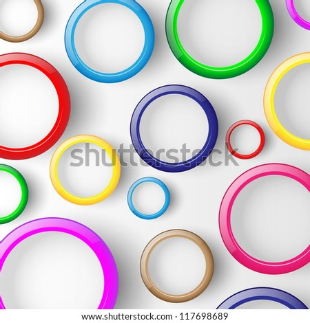 Abstract background with circles. Illustration. - stock photo