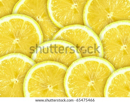 Abstract background with citrus-fruit of lemon slices. Close-up. Studio photography. - stock photo