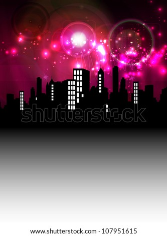 Abstract Background with Cityscape - stock photo