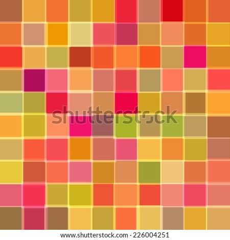 Abstract background with cubes of red color. Raster Raster - stock photo