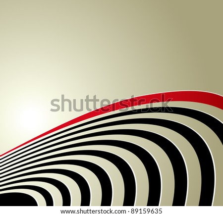 Abstract background with curved lines - symbolic concept of acoustic sound waves, radio waves and technical vibrations - suitable for music, business and technology designs - cd cover - stock photo