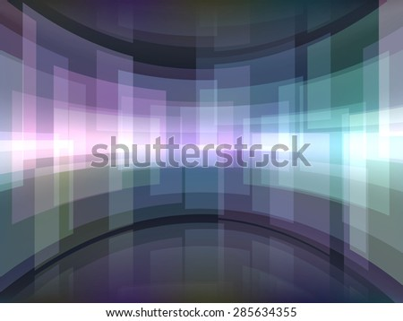 Abstract background with curved rectangulars. Raster version - stock photo