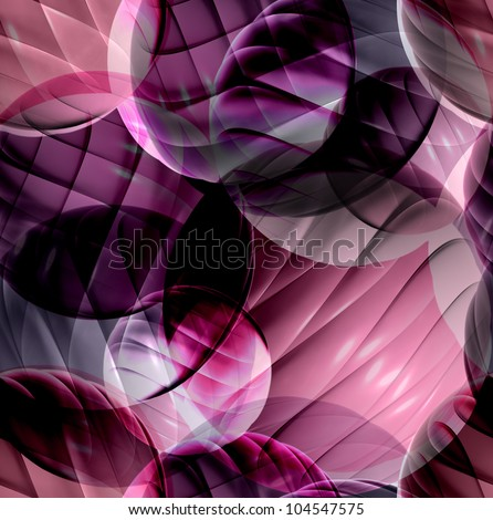 Abstract background with 3d shapes, seamless pattern, raster illustration. - stock photo
