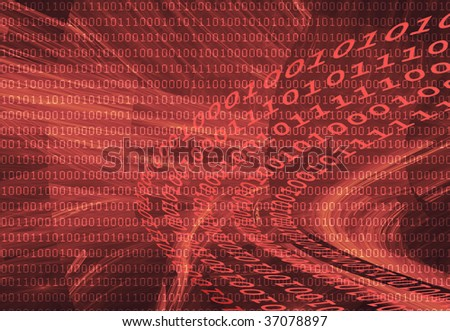 Abstract background with dark binary code