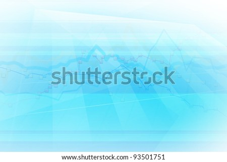 abstract background with data chart - stock photo