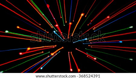 Abstract background with defocused lights and shadow - rush line. - stock photo