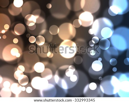 Abstract background with defocused lights, bokeh effect - stock photo