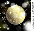 Abstract background with disco ball - stock photo