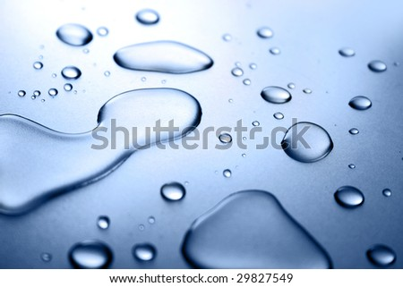 Abstract background with drops of water - stock photo