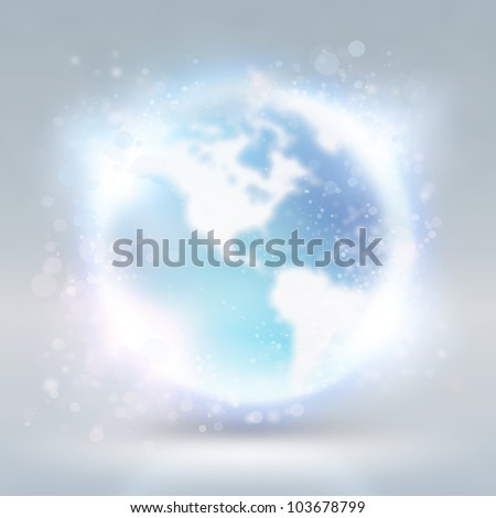 Abstract background with earth globe. Internet technology concept - stock photo