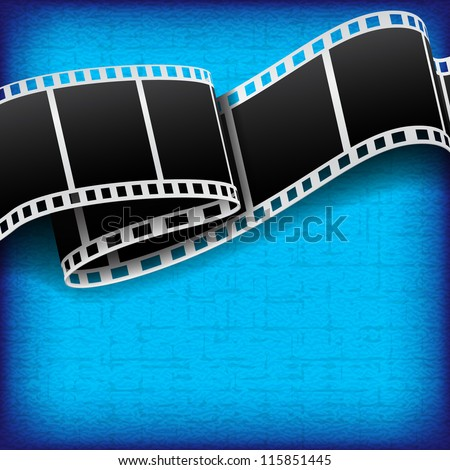 Abstract background with film reel. Raster version