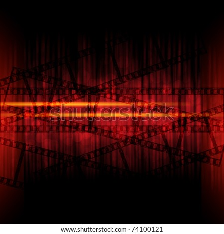 abstract background with filmstrips - stock photo