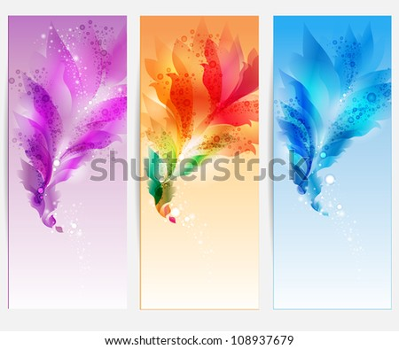 Abstract  background with floral elements - stock photo
