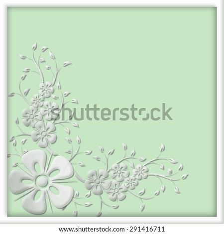 Abstract background with floral motive. - stock photo