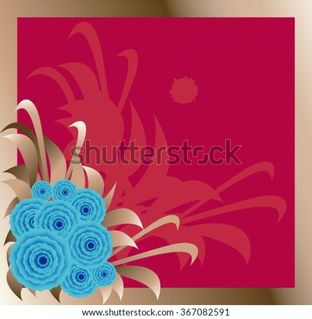 Abstract background with flowers. - stock photo