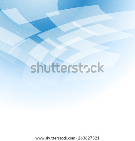 abstract background with flying shapes - stock photo