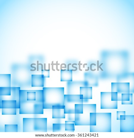 abstract background with flying transparent squares. raster - stock photo