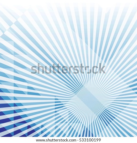 Abstract background with geometric shapes and rays