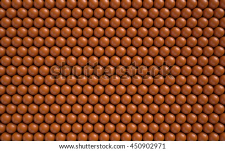 Abstract background with glossy balls. 3d illustration. - stock photo