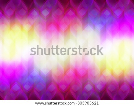 abstract background with glowing hearts - stock photo