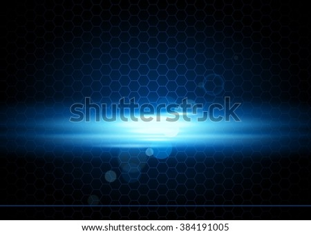 Abstract Background with Glowing Light