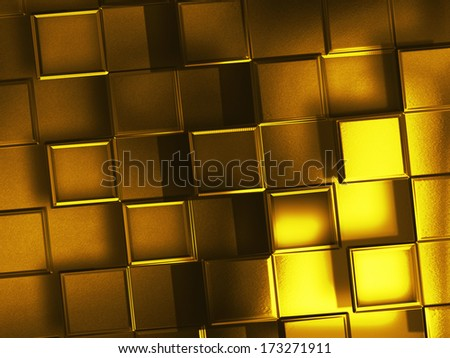abstract background with gold squares