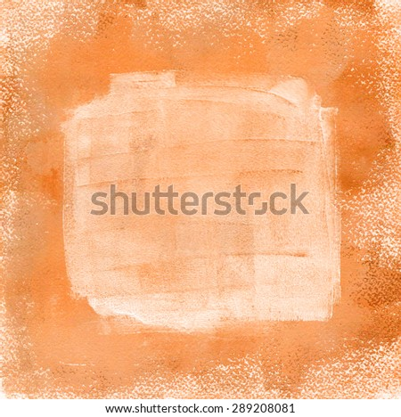Abstract background with golden and white paint, with a place for text - stock photo