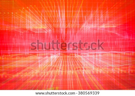 Abstract Background with Graphs of financial business - stock photo