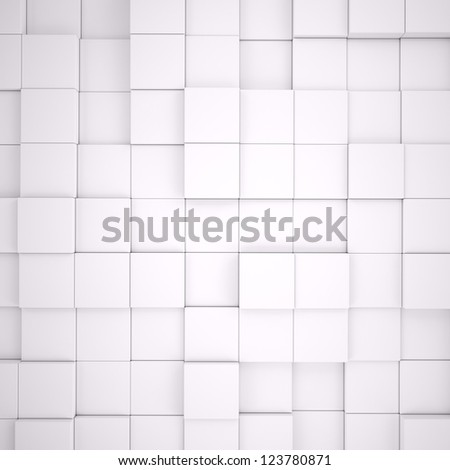 Abstract background with gray cubes - stock photo