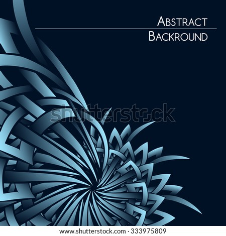 Abstract background with industrial spiral element and space for your text. - stock photo