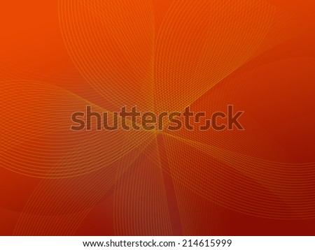 Abstract background with line and wave