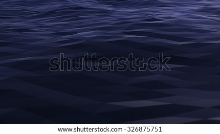 Abstract background with low polygonal surface. - stock photo