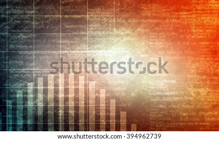 Abstract background with matrix
