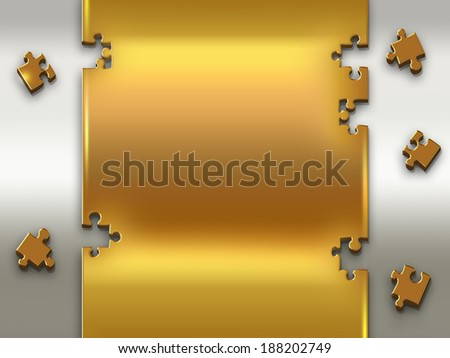 abstract background with metal puzzles - stock photo