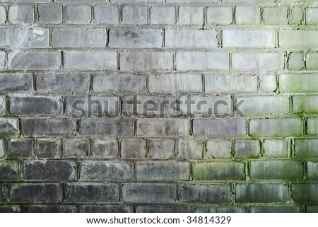 Abstract background with mustiness old grunge brick wall - stock photo