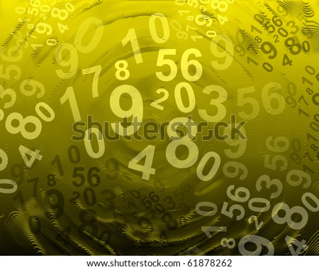 abstract background with numbers - stock photo