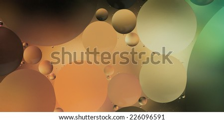abstract background with pale gradient colors, oil drops on water - stock photo