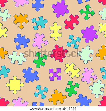 abstract background with puzzling elements, seamless repeat pattern