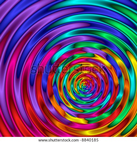 Abstract background with rainbow color ripples. - stock photo