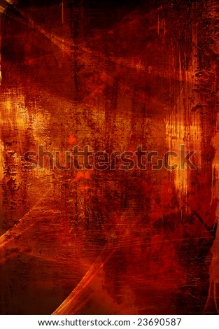 abstract background with red and yellows - stock photo