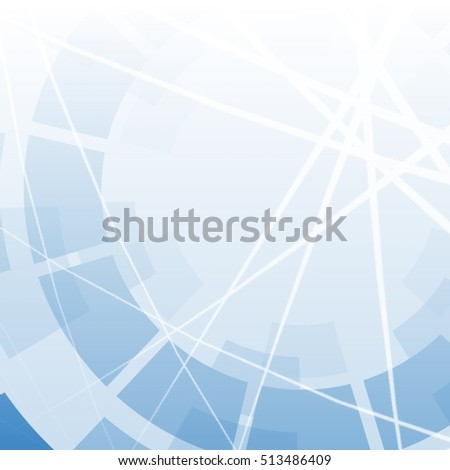 Abstract background with rounds and chaotic lines