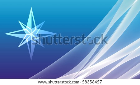 abstract background with sea star