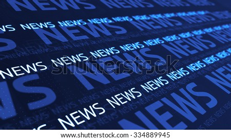 abstract background with several news text lines, can be used as a background for informational program