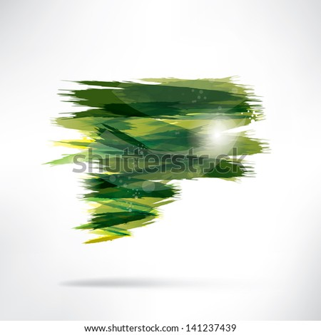 Abstract background with splash - stock photo