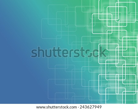 abstract background with square - blue and green - stock photo