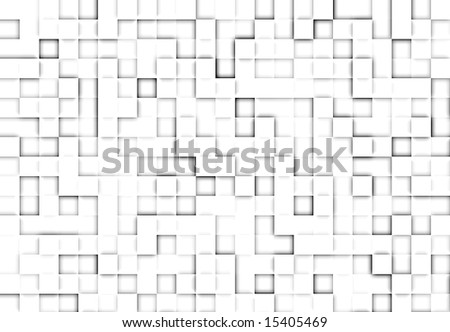 Abstract background with square tiles of white color