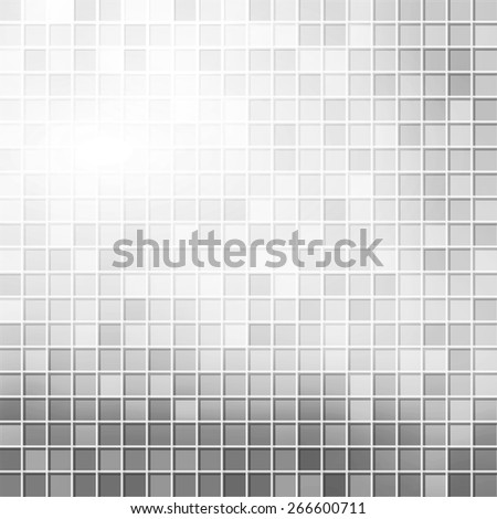 abstract background with squares and logo of letter S, gray color - stock photo
